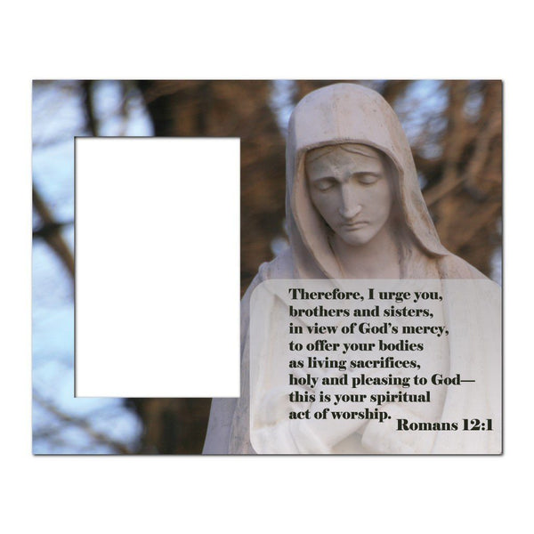 Romans 12:1 Decorative Picture Frame - Holds 4x6 Photo