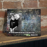 Romans 3:23 Decorative Picture Frame - Holds 4x6 Photo