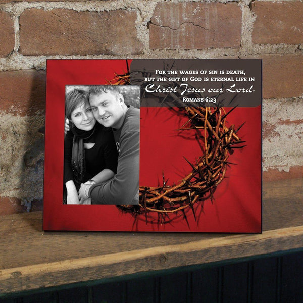 Romans 6:23 Decorative Picture Frame - Holds 4x6 Photo