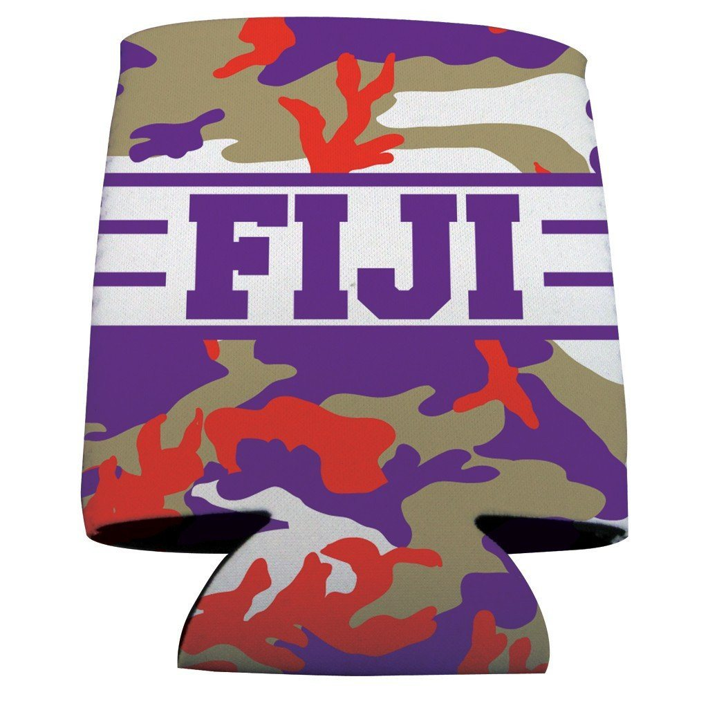 Phi Gamma Delta Can Cooler Set of 12 - Camo Design - FREE SHIPPING