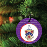 Phi Gamma Delta Ornament - Set of 3 Circle Shapes