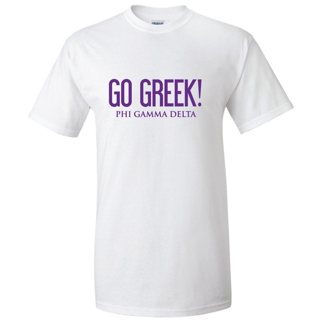 "Phi Gamma Delta ""Go Greek"" T-shirt - FREE SHIPPING"