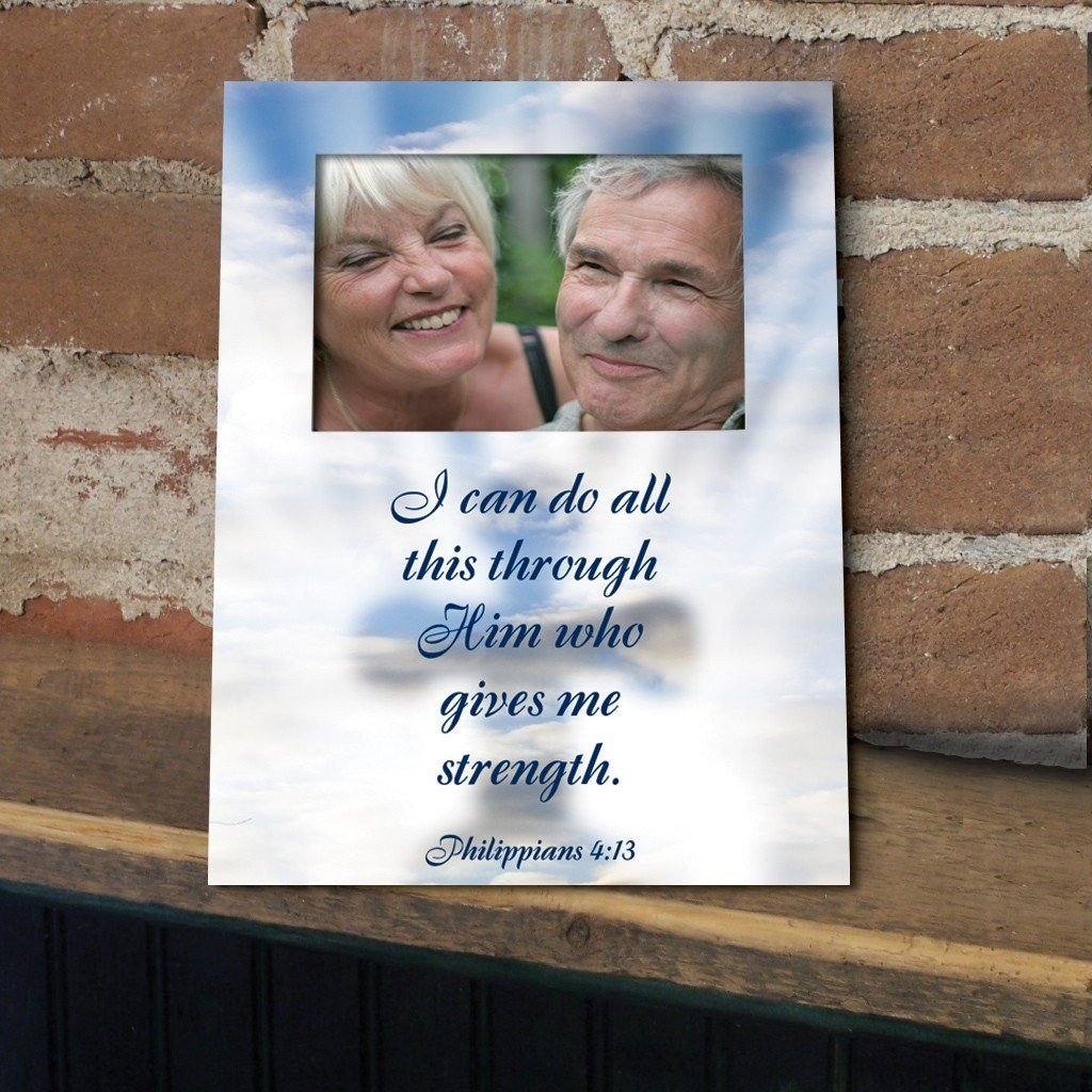 Philippians 4:13 Decorative Picture Frame (Vertical)- Holds 4x6 Photo