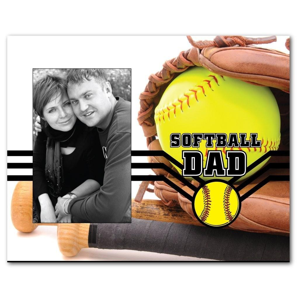 Softball Dad Picture Frame - Holds 4x6 Photo