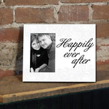 "Wedding Themed Picture Frame - Holds 4x6 Photo - ""Happily Ever After"""