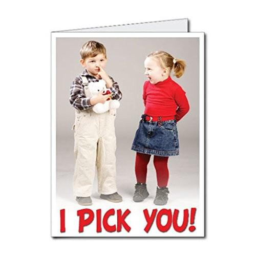 "3' Stock Design Giant Valentine's Day Card ""I Pick You"" w/envelope"