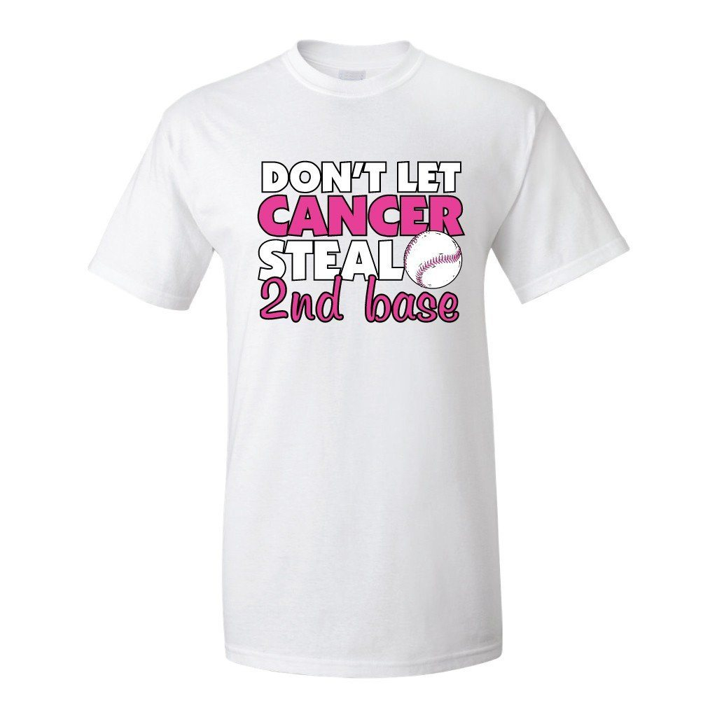 Steal 2nd Base Breast Cancer Awareness T-Shirt - FREE SHIPPING