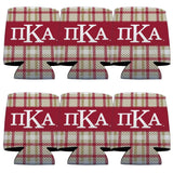 Pi Kappa Alpha Can Cooler Set of 12 - Plaid Design
