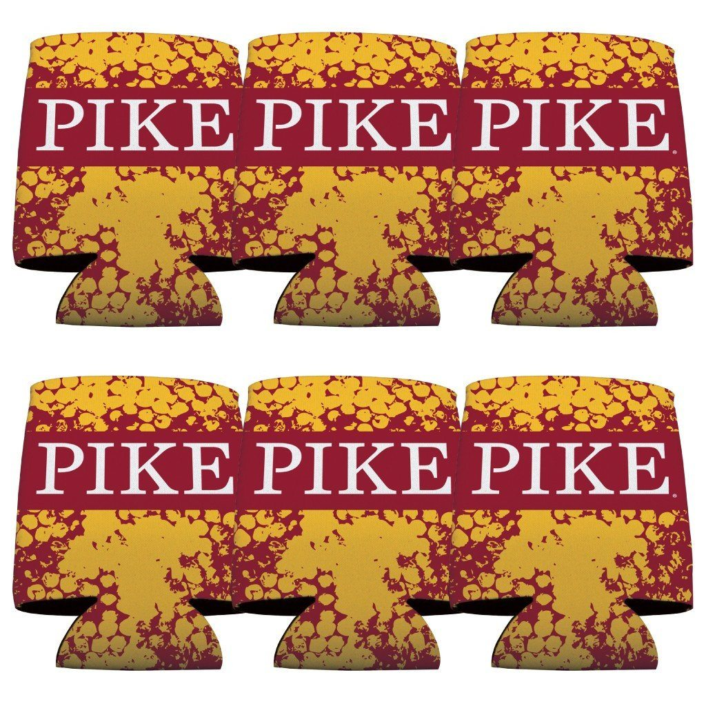 Pi Kappa Alpha Can Cooler Set of 12 - Pike FREE SHIPPING