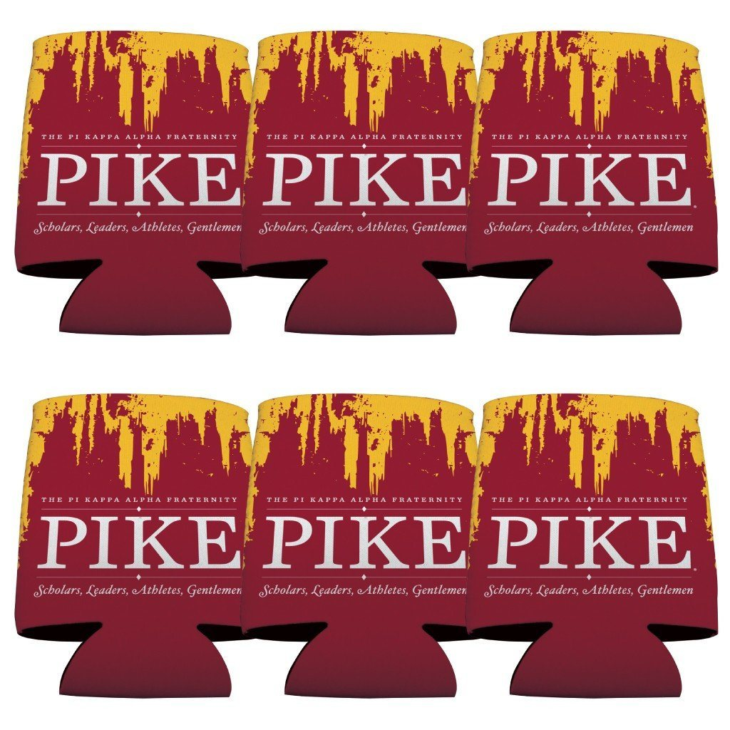 Pi Kappa Alpha Can Cooler Set of 12 - Grunge FREE SHIPPING