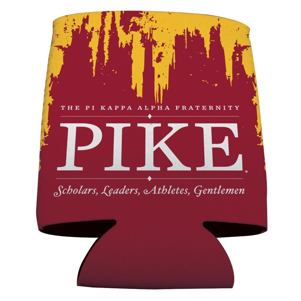 Pi Kappa Alpha Can Cooler Set of 12 - Grunge Design