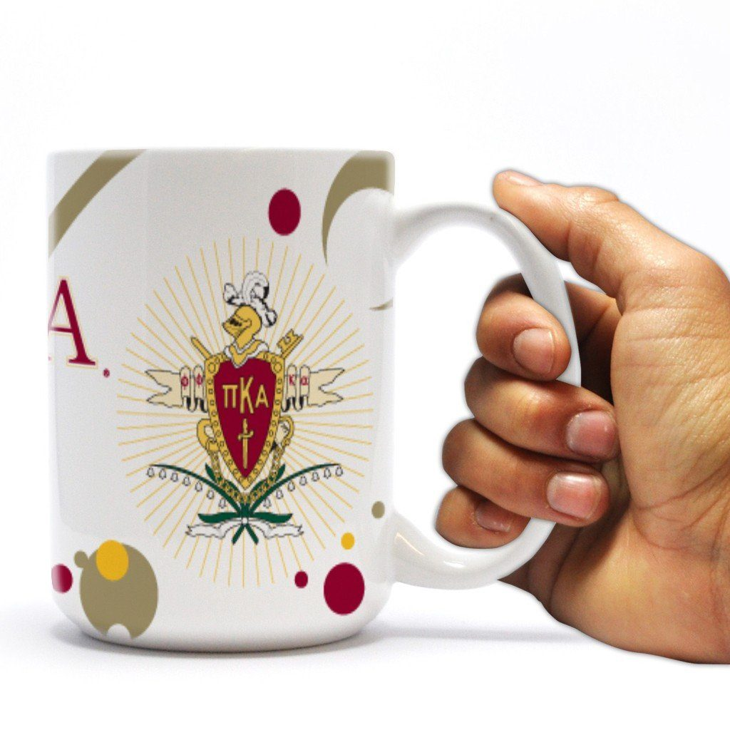 "Pi Kappa Alpha 15oz Coffee Mug "" Bubble Design"