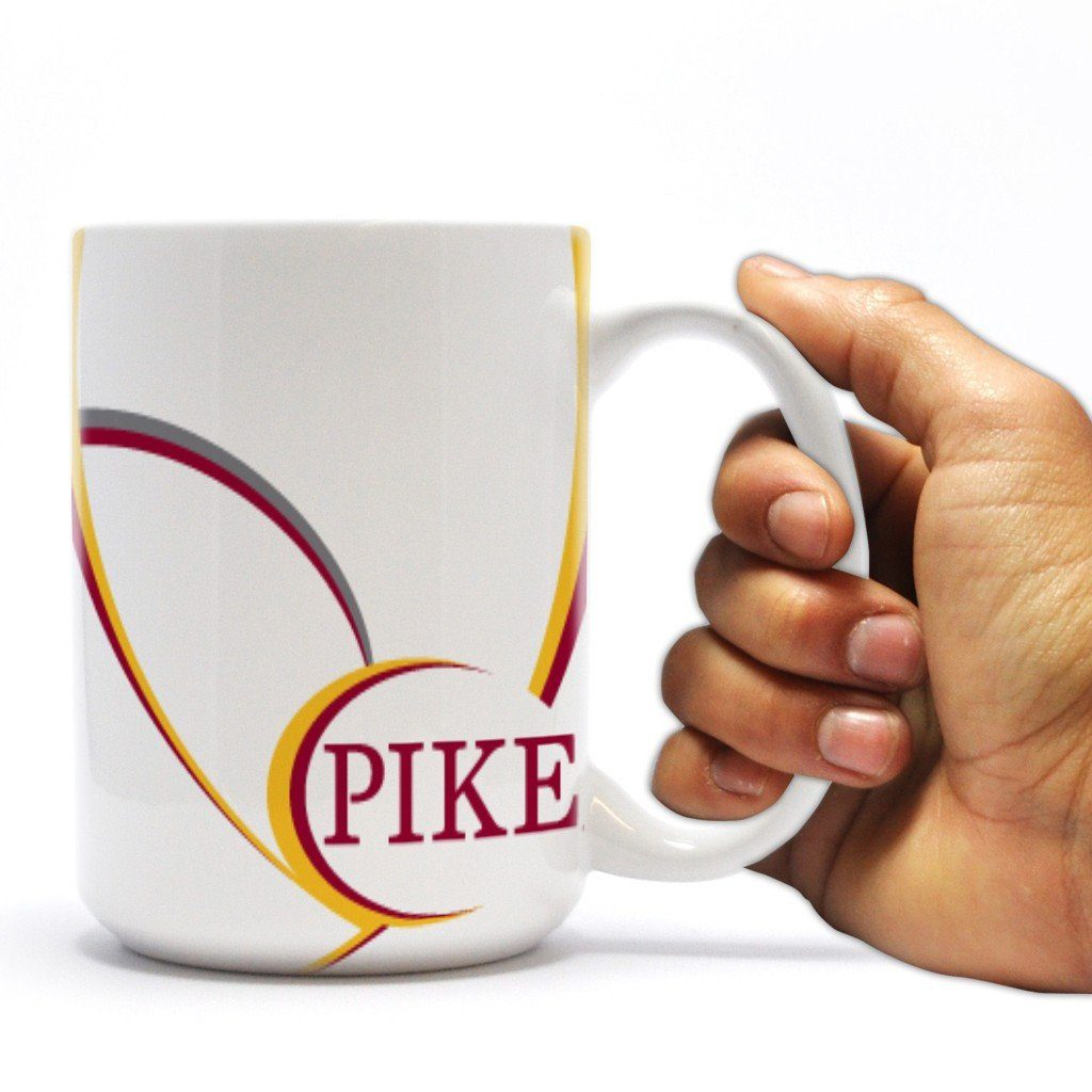 "Pi Kappa Alpha 15oz Coffee Mug "" Pike Swoop Design"