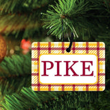 Pi Kappa Alpha Ornament - Set of 3 Rectangle Shapes
