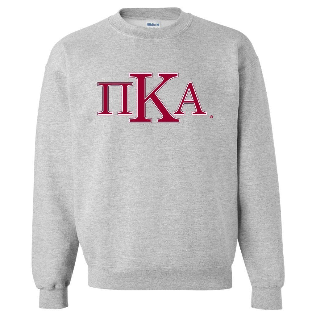 Pi Kappa Alpha Sport Gray Crewneck Sweatshirt Greek Letters Design