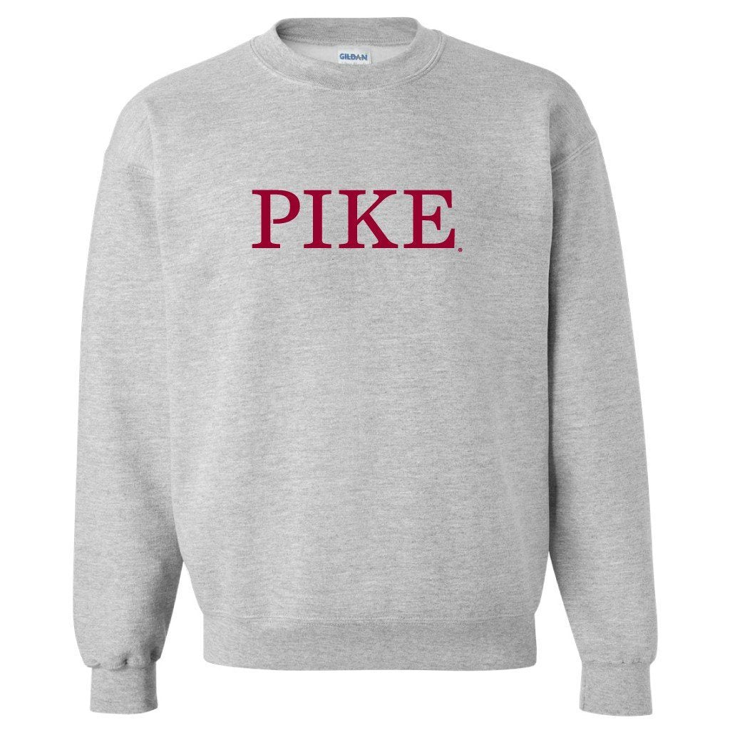 Pi Kappa Alpha Sport Gray Crewneck Sweatshirt Pike Design