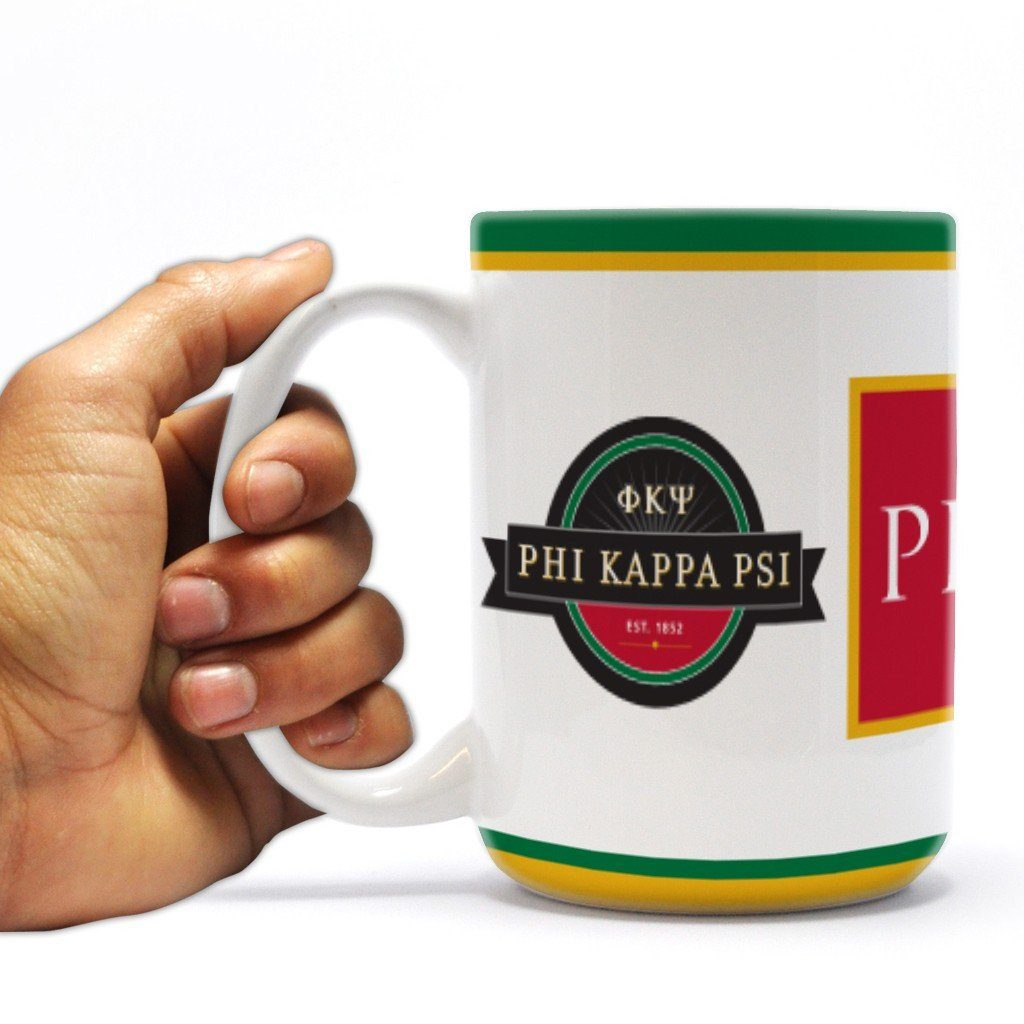 Phi Kappa Psi - Coffee Mug - Stripes Design