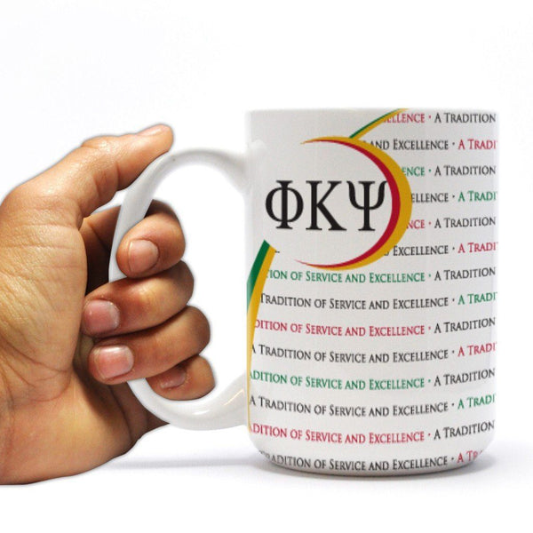 "Phi Kappa Psi - Coffee Mug - ""A Tradition of Service and Excellence"""