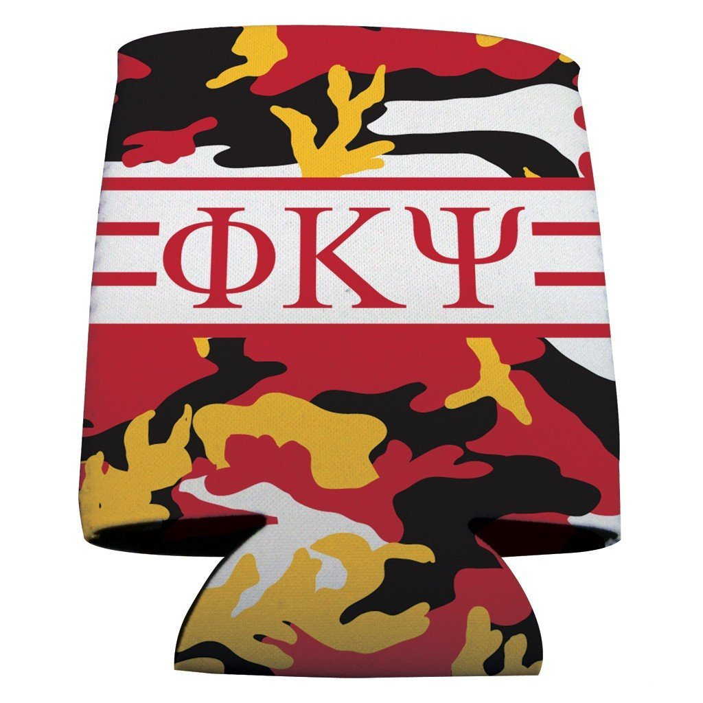 Phi Kappa Psi Can Cooler Set of 12 - Camo FREE SHIPPING