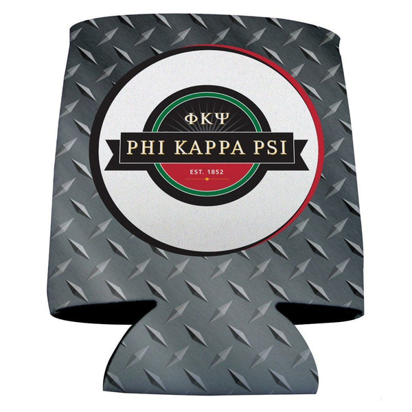 Phi Kappa Psi Can Cooler Set of 12 - Logo & Steel Plate Design