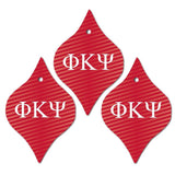 Phi Kappa Psi Ornament - Set of 3 Tapered Shapes