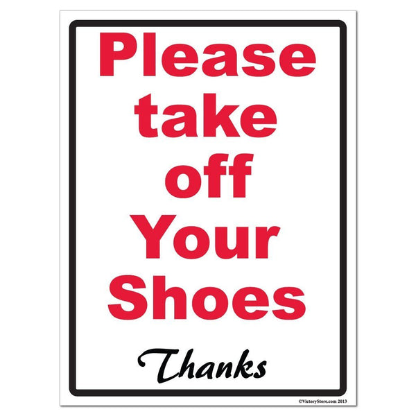 Please Take Off Your Shoes Sign or Sticker - #3