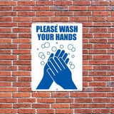 Please Wash Your Hands Sign - #8