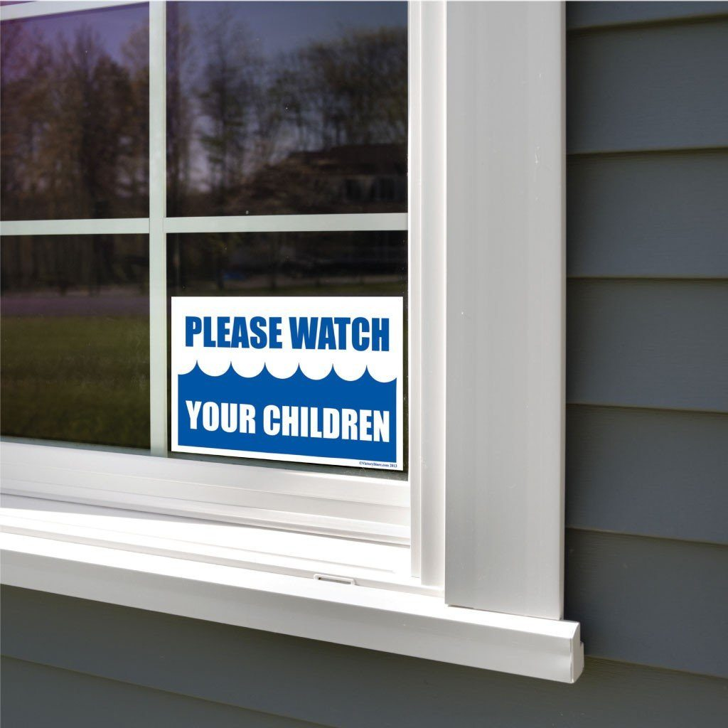 Please Watch Your Children Pool Sign or Sticker - #1