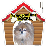 Pomeranians Rock! Dog Breed Yard Sign - Plastic Shaped Yard Sign w/ 2