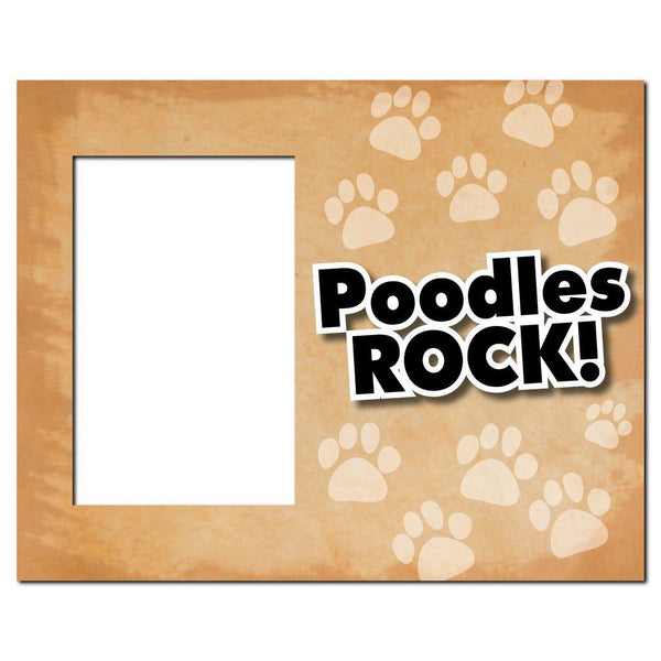 Poodles Rock Dog Picture Frame - Holds 4x6 picture