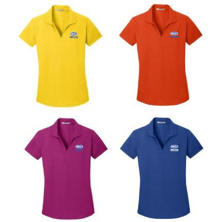 WCI Embroidered Ladies Port Authority V-Neck Dry Zone Grid Polo
