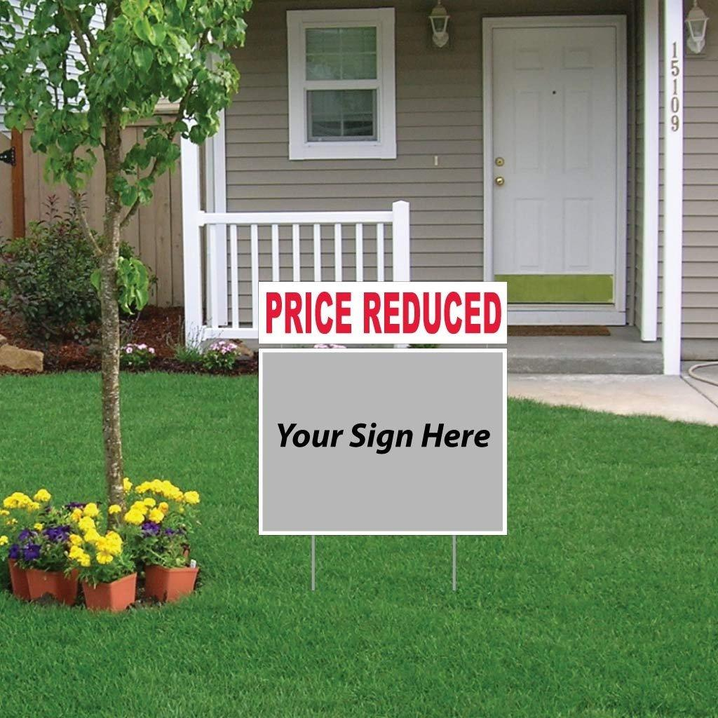 Price Reduced Real Estate Yard Sign Rider Set - FREE SHIPPING