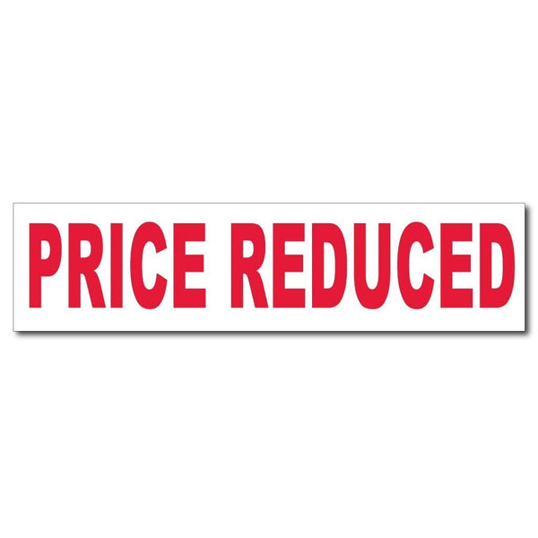 Price Reduced Sign Rider