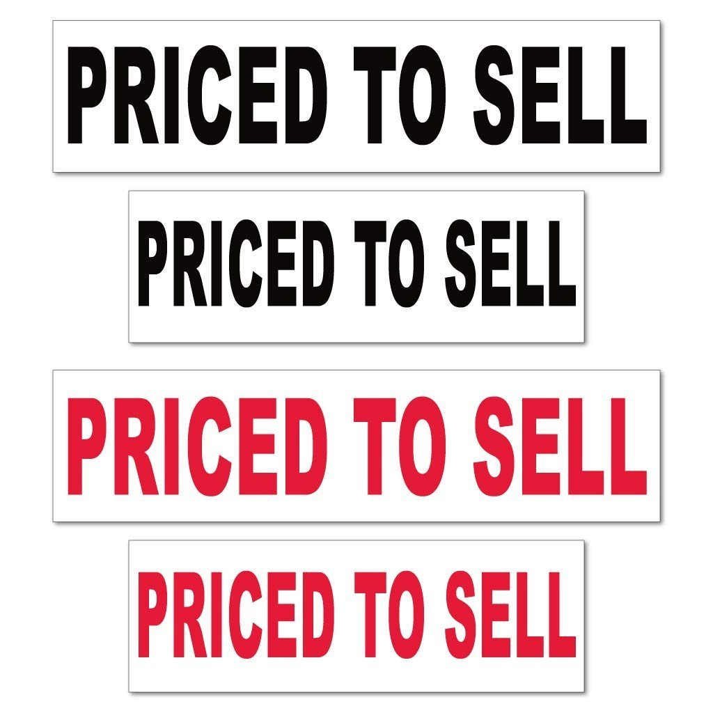 Priced to Sell Real Estate Yard Sign Rider Set - FREE SHIPPING