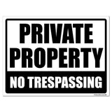 Private Property No Trespassing Sign or Sticker - #6