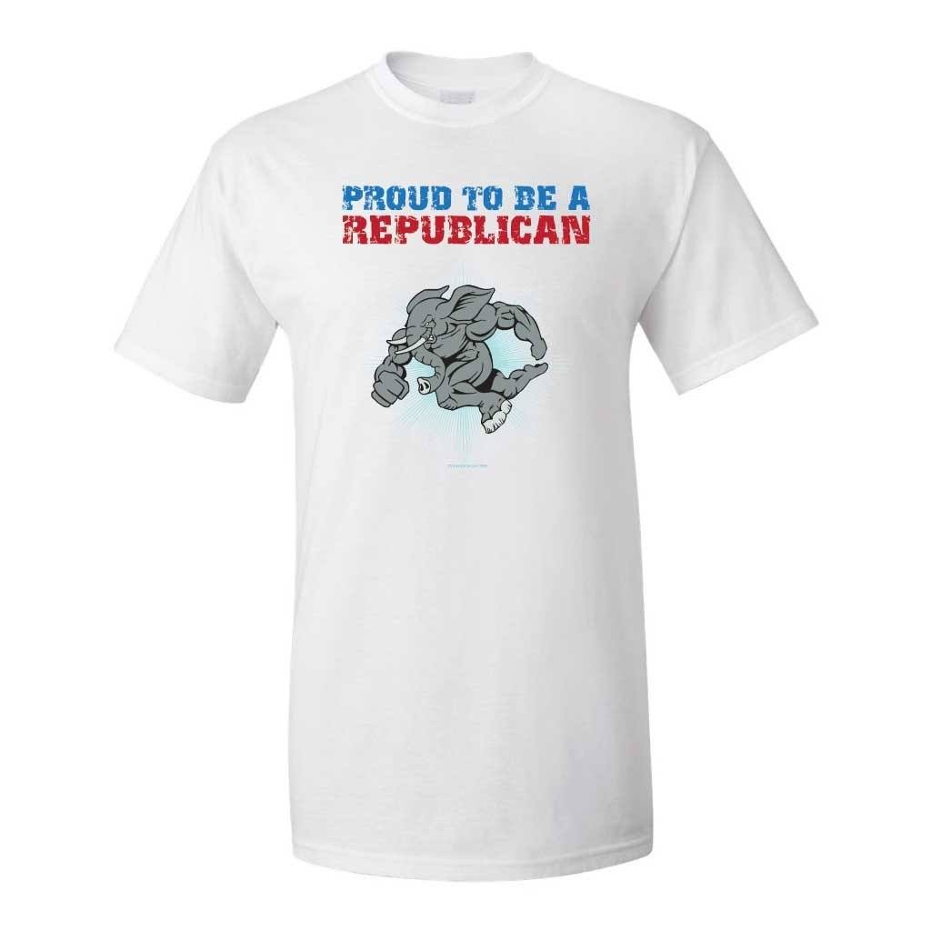 Proud To Be A Republican White T-Shirt - FREE SHIPPING