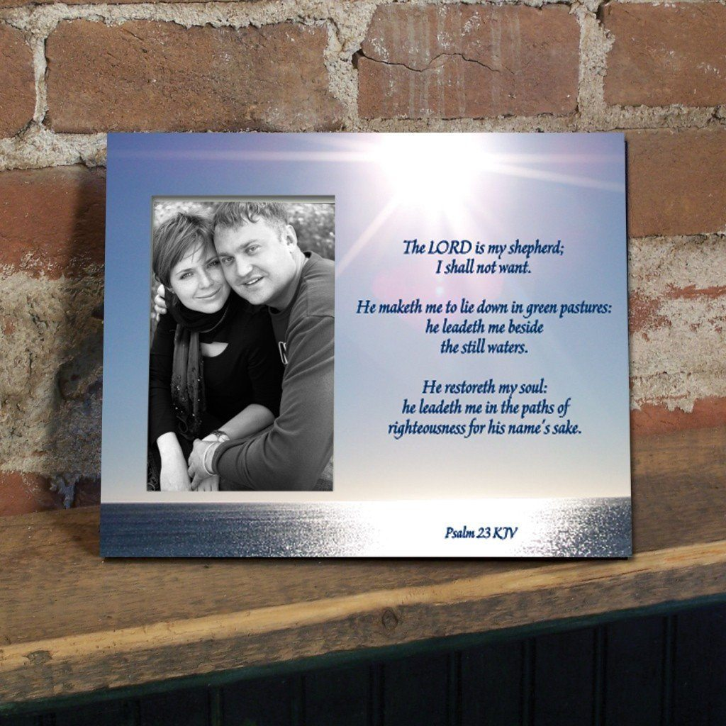 Psalm 23 Decorative Picture Frame - Holds 4x6 Photo