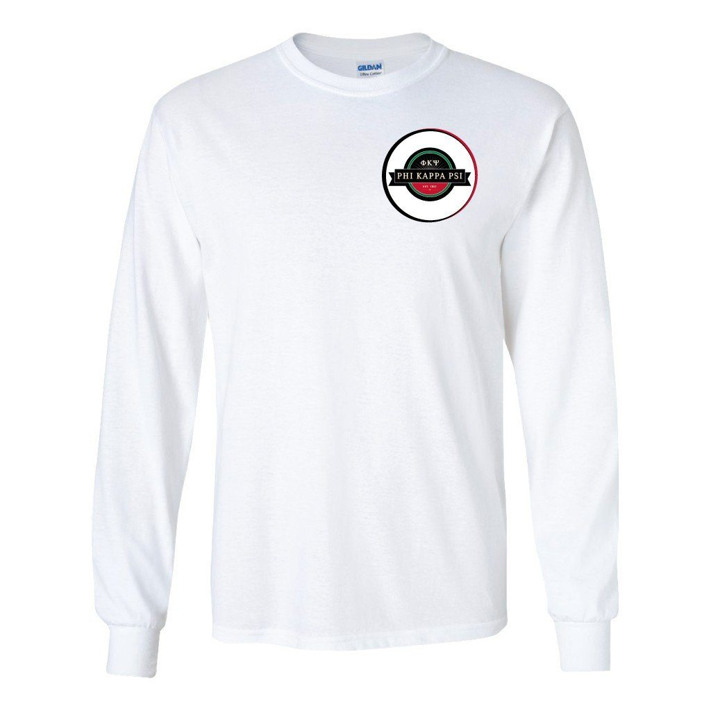 Phi Kappa Psi Long Sleeve T-shirt Left Chest Seal - FREE SHIPPING