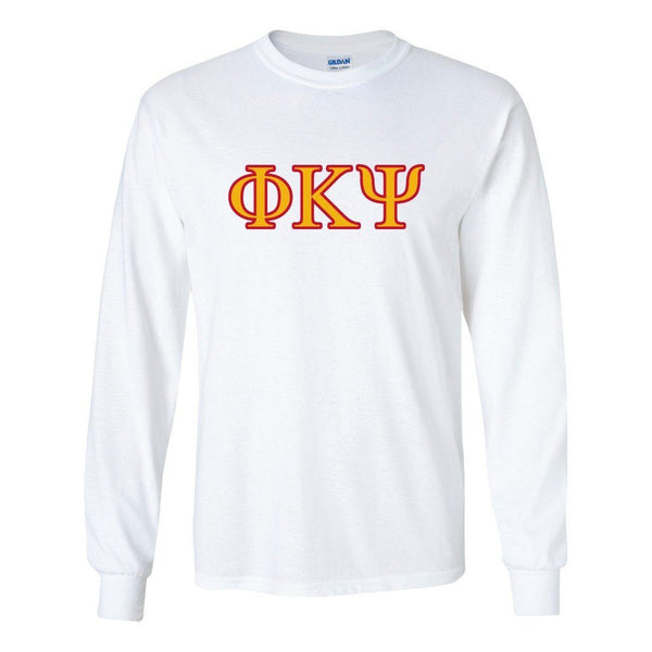 Phi Kappa Psi Long Sleeve T-shirt Two Toned Greek Letters Design ""