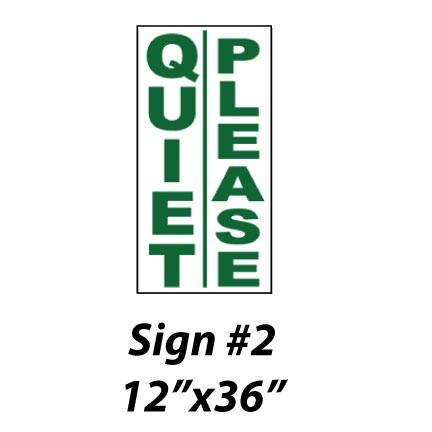 Quiet Please Golf Signs Victorystore Com