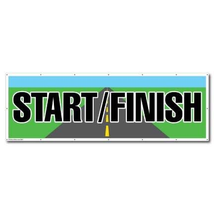Start/Finish Full Color Vinyl Banner - 4' x 12'