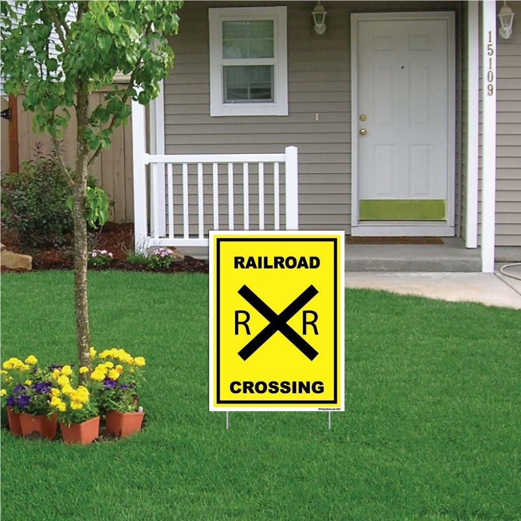 Railroad Crossing Sign or Sticker