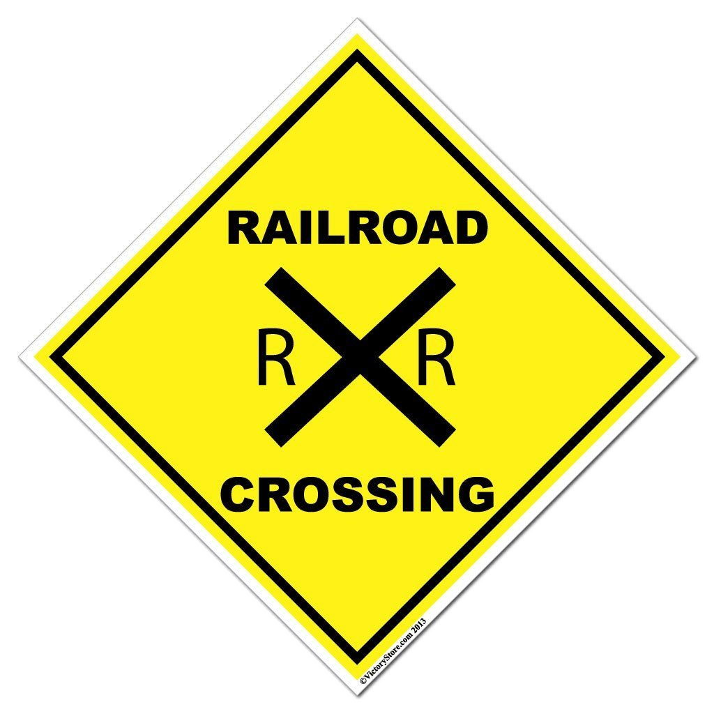 Brand new Railroad Crossing Sign or Sticker DK63