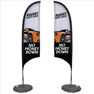 Razor Sail Sign Kit Double-Sided with Scissor Base