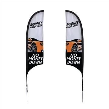 Razor Sail Sign Kit Double-Sided with Spike Base