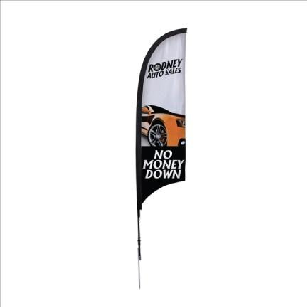 Razor Sail Sign Kit Single-Sided with Spike Base