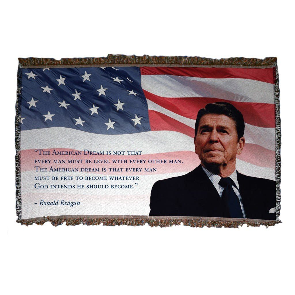 Reagan and Bush 1984 - Woven Blanket - Reagan Quote