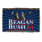 Reagan and Bush 1984 - Woven Blanket - 1984 Campaign