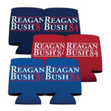 6 Reagan Bush '84 can coolers
