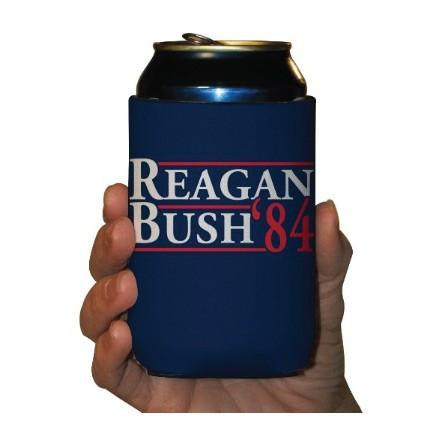 A dark blue koozie